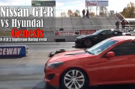 韓国最高のスポーツカー、ヒュンダイジェネシスがGT-Rにゼロヨン勝負を挑んだ結果・・・(動画)