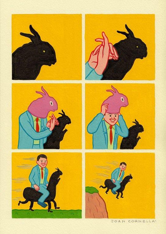 【ヤバい】スペイン人が書いた『6コマ漫画』がコレ ・・・