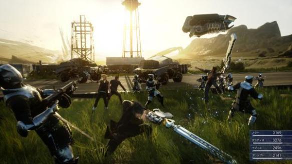 【速報】FF15の最新戦闘シーン公開wwwwDMCみたいな派手な戦闘でカッコいいwwww