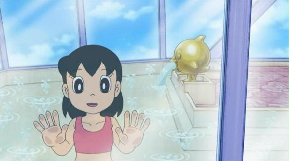 【悲報】ついにしずかちゃんの裸が規制される、入浴シーンが水着着用に