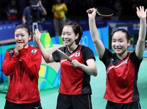 卓球女子団体が銅メダル