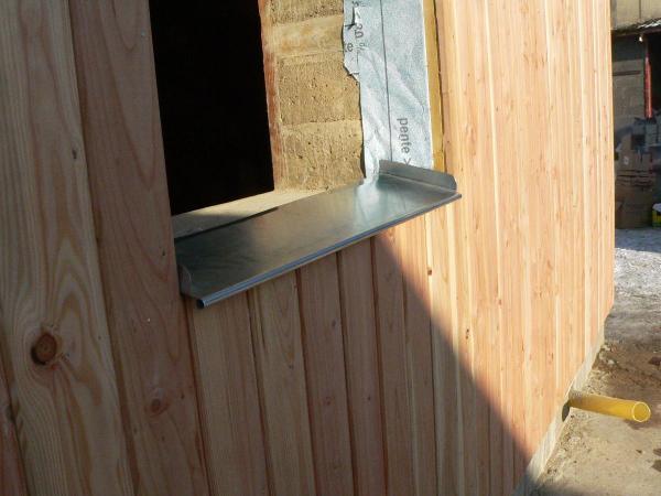 Les appuis des baies for Appui de fenetre bois