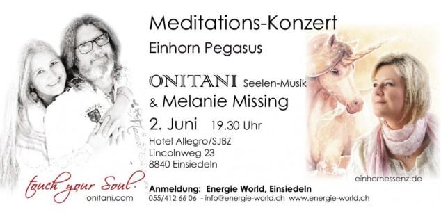 Mediationskonzert mit Onitani und Melanie Missing in Einsiedeln