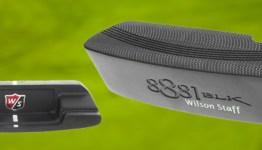 2 views of wilson putter over golf green