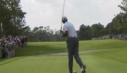 Tiger Woods Slice Tee Shot