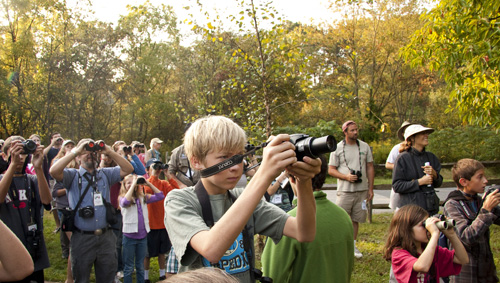 Young Birders in the field at the MAYBC, photo by George Armistead