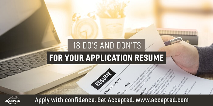 18 Rules for a Solid Application Resume Accepted