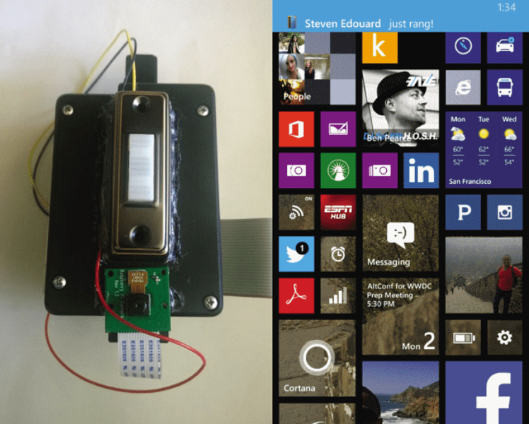Rush Iphone Wallpaper Diy Cloud Enabled Doorbell Takes Pictures And Sends Them