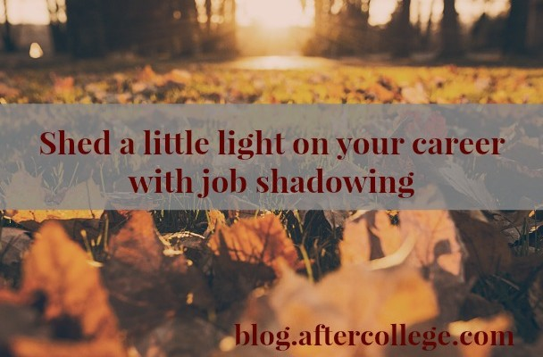 The Basics of Job Shadowing - AfterCollege - shadowing jobs