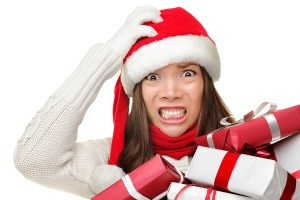 bigstock-Christmas-stress--busy-woman--23861735