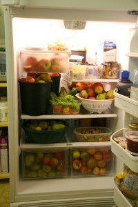 fruit in fridge