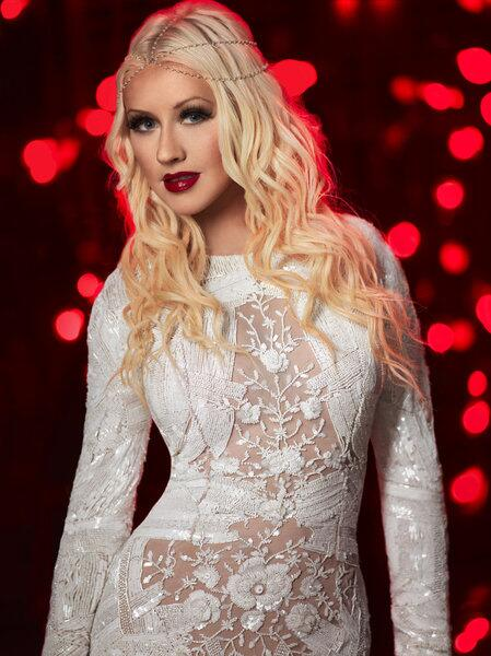 christina aguilera for the voice wearing Aiisha Ramadan