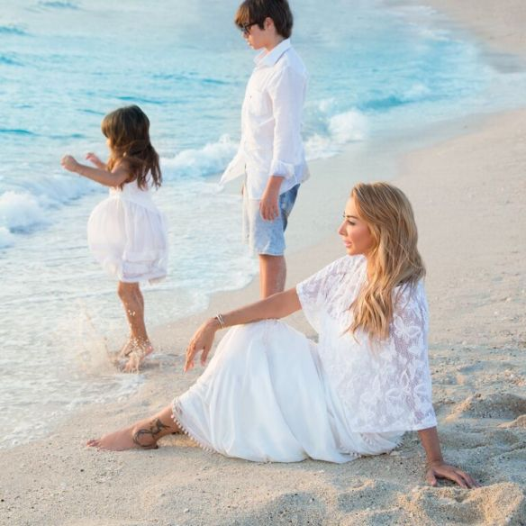 Joelle Mardinian and her children
