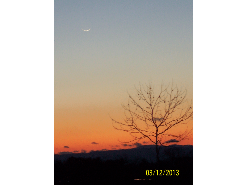 Pictures of Crescent Moon for Jumadal Thani 1434 AH