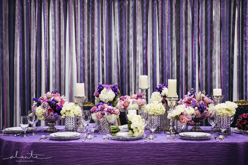 Purple Wedding Table Decoration Ideas Elitflat