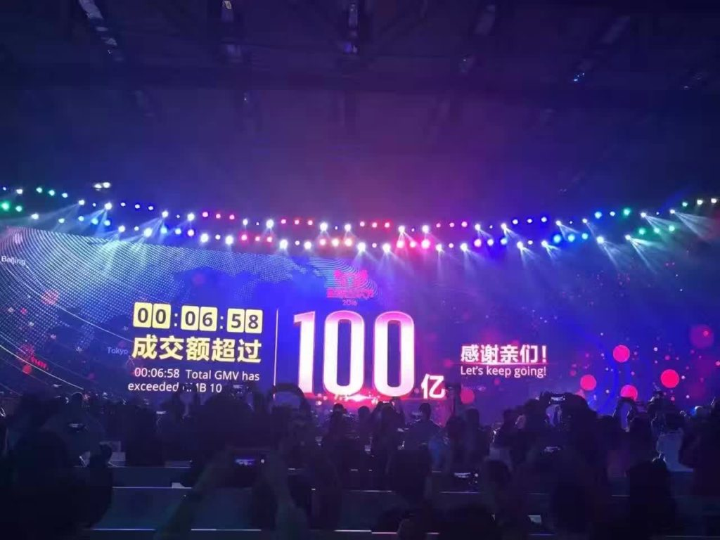 10 Billion Yuan in 6 minutes Singles Day 2016