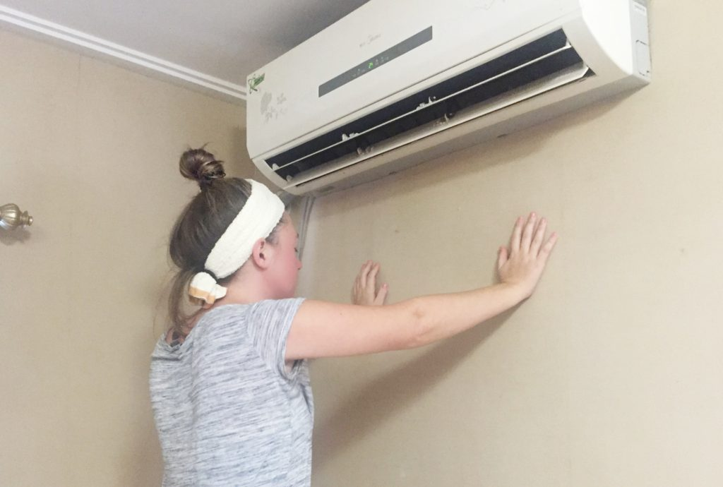 air conditioner after bee venom mask