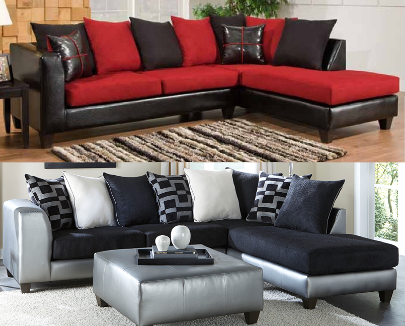 Pick Your Favorite Bold Colored Sectionals American Freight - american freight living room sets