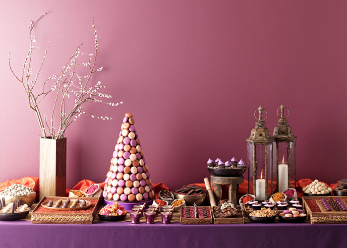 Moroccan table1 Brides Magazine Part I – Spiced Chocolate Dessert Table