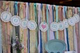 DIY Vintage Ribbon Backdrop