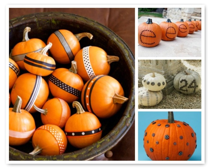 nocarvepumpkin2amyatlas 700x560 No Carve Pumpkin Decorating Ideas