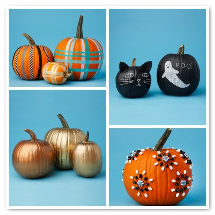 nocarvepumpkinamyatlas 700x700 No Carve Pumpkin Decorating Ideas