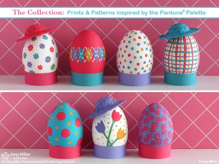 2AMillerCollection 700x525 Pantone Inspired Egg Contest Winner {Egg Cellent Easter Inspiration} With Egg Fashion Show