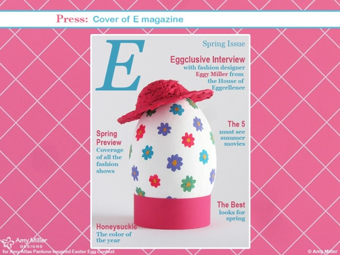 6AMillerPinkPress 700x525 Pantone Inspired Egg Contest Winner {Egg Cellent Easter Inspiration} With Egg Fashion Show