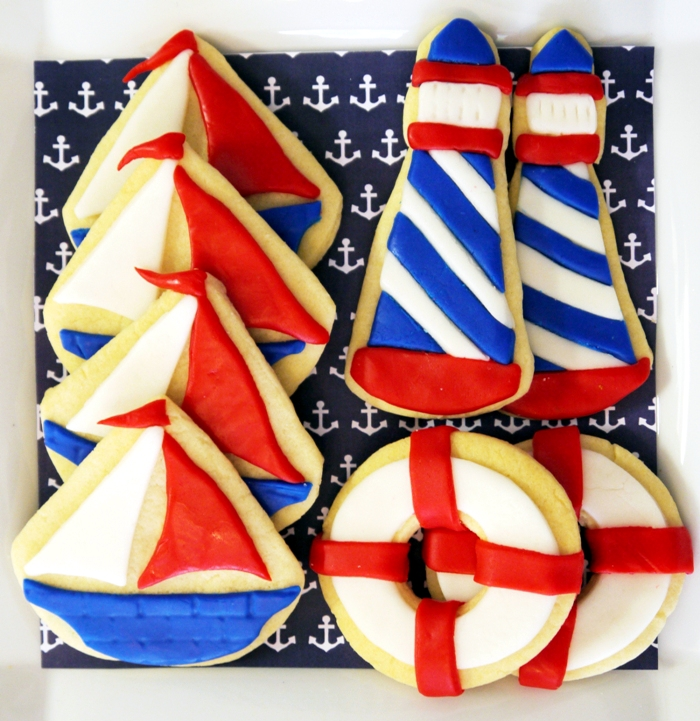 Preppy Nautical Party by Birds Party12 Red White & Blue Guest Dessert Feature