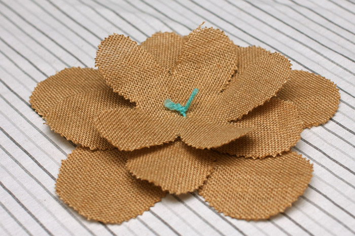 Step 6 Burlap Flowers Burlap Flower Tutorial