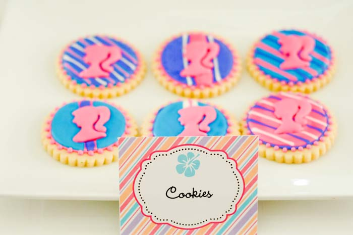 Barbie cookies Beach Barbie Guest Dessert Feature
