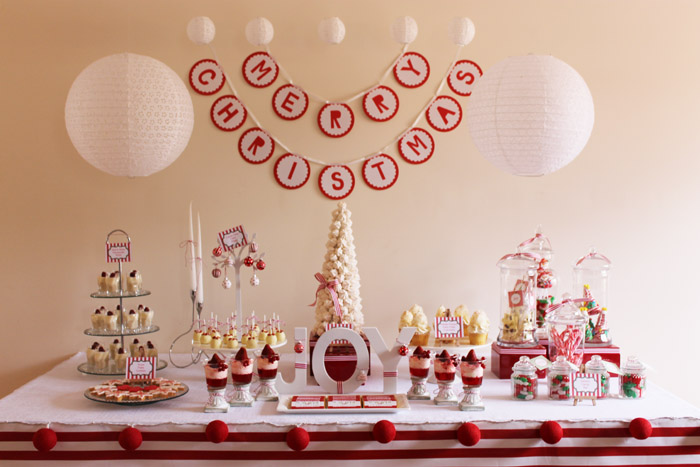 Dessert Table Dreaming of a (Red &) White Christmas Guest Dessert Feature