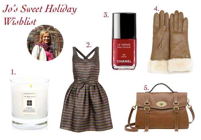 jowishlist Jos Sweet Holiday Wish List