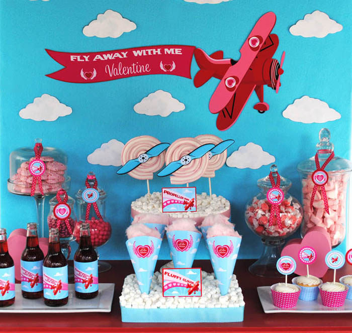 GWD Fly Away Valentine Dessert Table Fly Away With Me Valentine ...