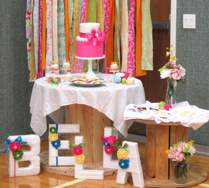 spool tables1 Sew Cute Guest Dessert Feature