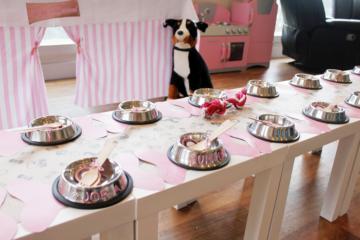 Lajari Puppy Party Table Setting3 Puppy Party Guest Dessert Feature