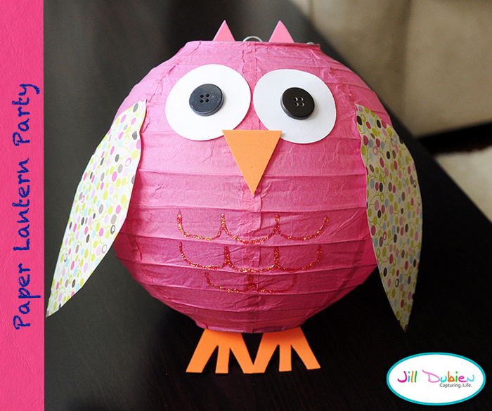 owl lantern Great Finds: Paper Lantern Party