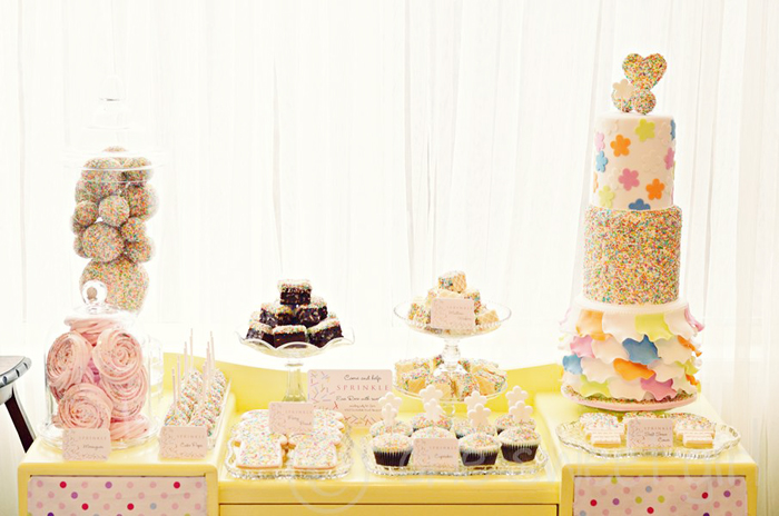 Sucker for Sprinkles Dessert Table