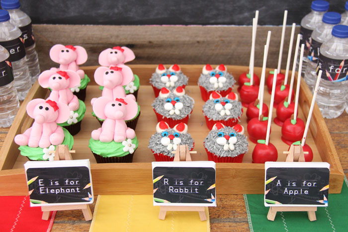 Back 2 School Dessert Feature cupcakes and cake pops