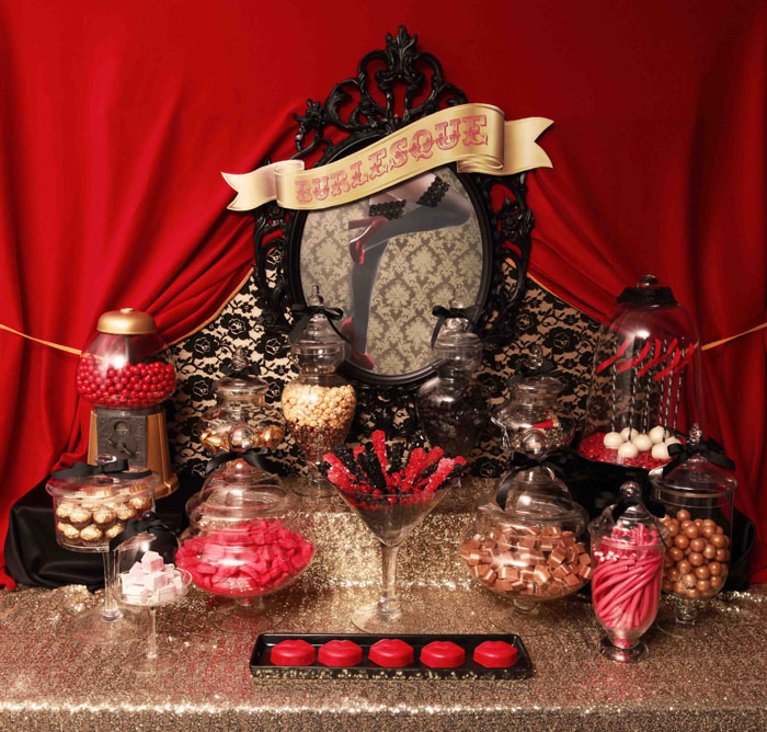 Small lolly table front view Burlesque Guest Dessert Feature