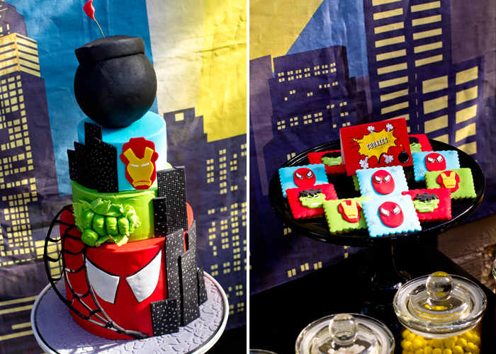 Superman Inspired Dessert Table
