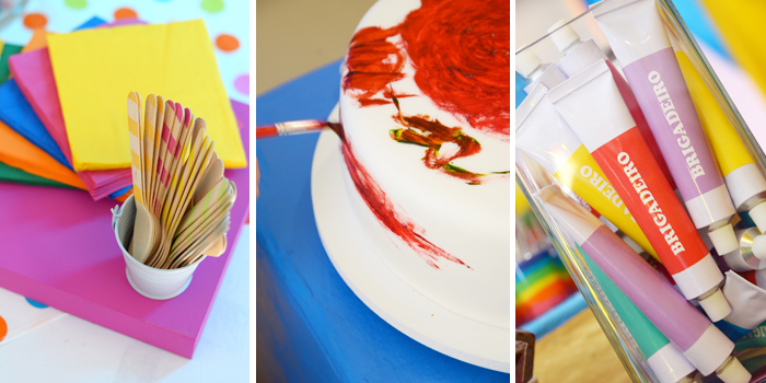 Art party for kids party ideas