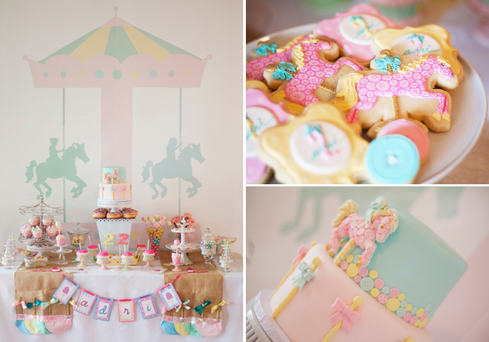 Carousel Pastel Girls Party