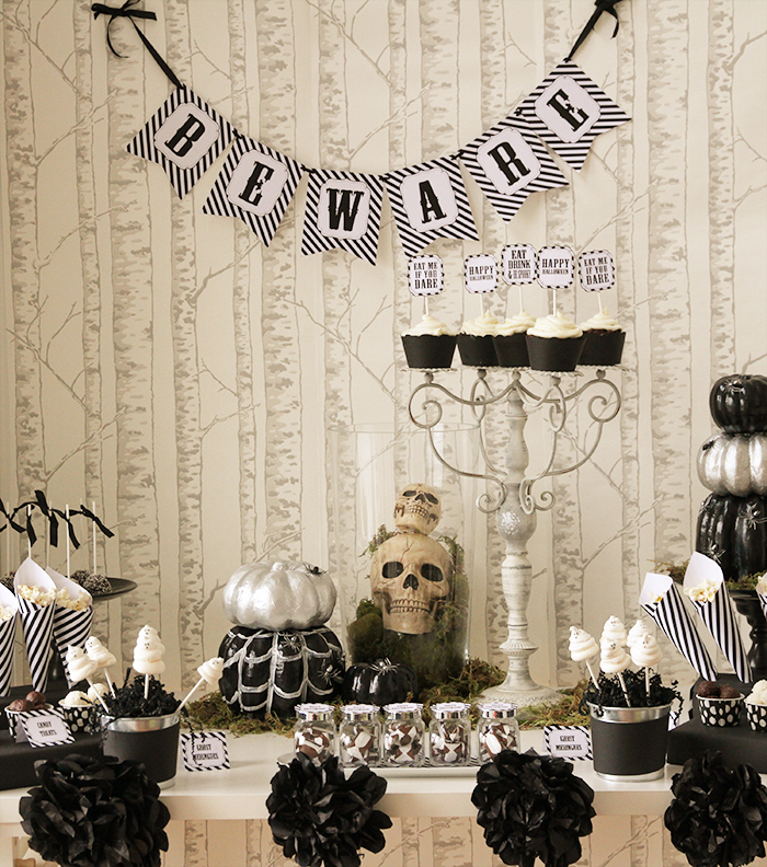 dessert table Halloweekend Countdown: Eat Drink & Be Spooky