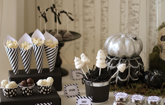 dessert table side Halloweekend Countdown: Eat Drink & Be Spooky
