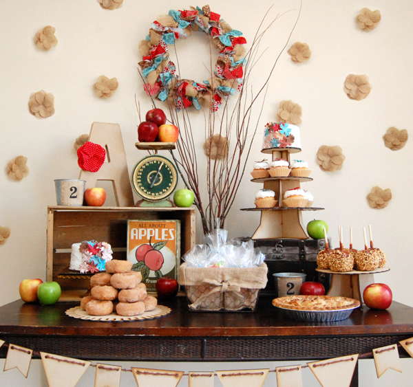 Apple Orchard Fall Inspired Dessert Table