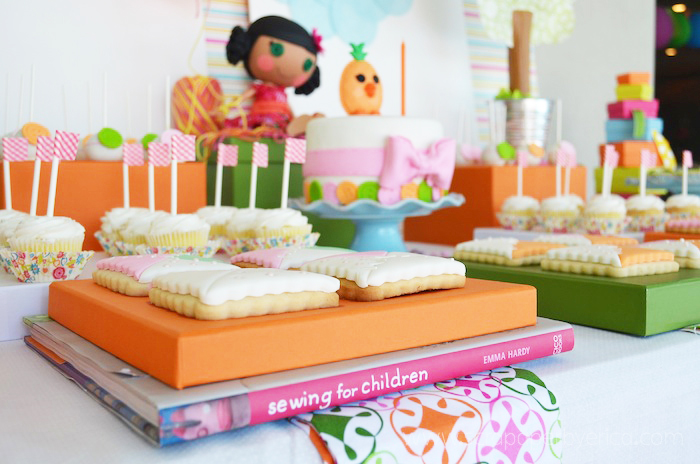 Lalaloopsy Doll Inspired Dessert Table ideas for girls