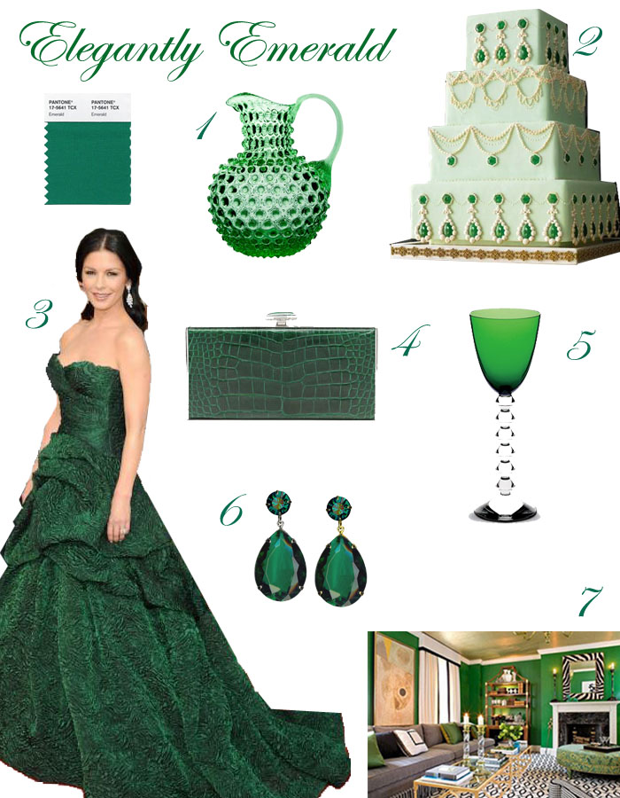 Emerald Inspiration Board2 Elegantly Emerald