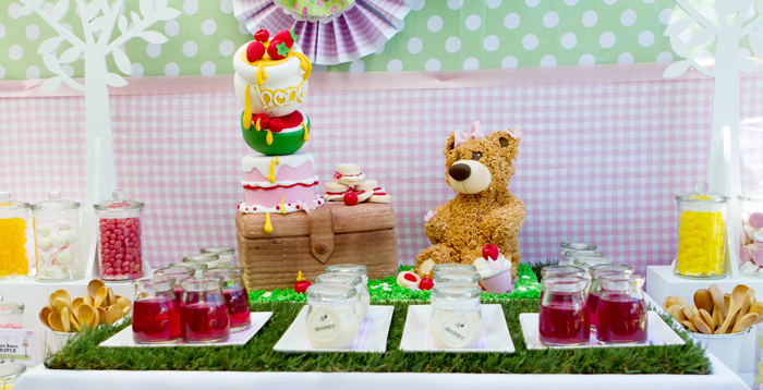 Teddy Bear Dessert Table Picnic Guest Dessert Feature