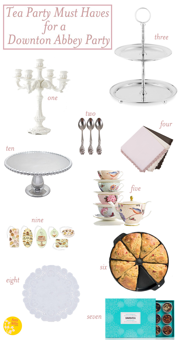 Downton Abbey Party5 Tea Party Must Haves for a Downton Abbey Party
